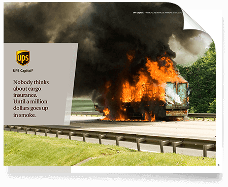 Cover Page of truck on fire with no cargo insurance